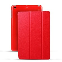 Retail 3 Folders Stand PU Case 10 Colors Available Ultrathin Smart Case For iPad Air