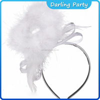 Adult Christmas White Festive Angel Halo Headband