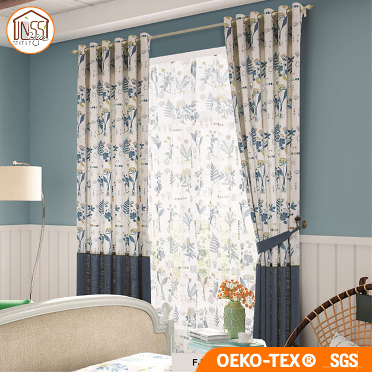 New Design American Style Printing Cotton Blackout Curtain