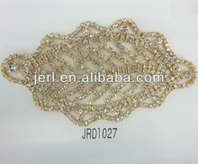 new design hot sale lace and crystal fabric crafts
