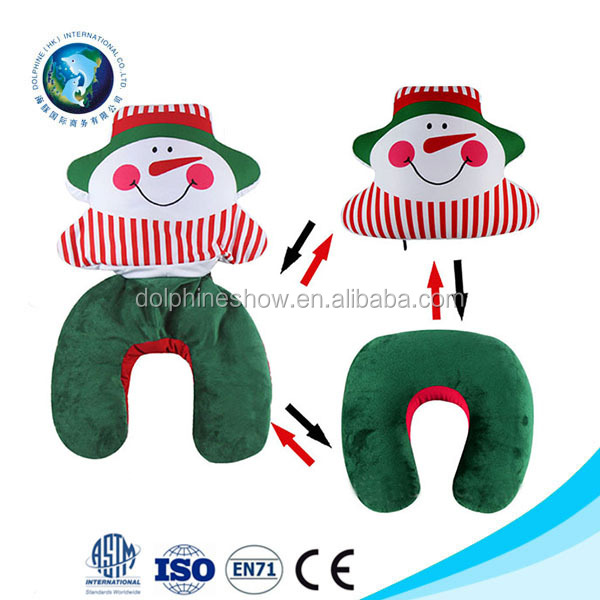 Custom Christmas Cushion Set Functional Memory Foam Neck Pillow Hotel Pillows For Sofa Car Seat