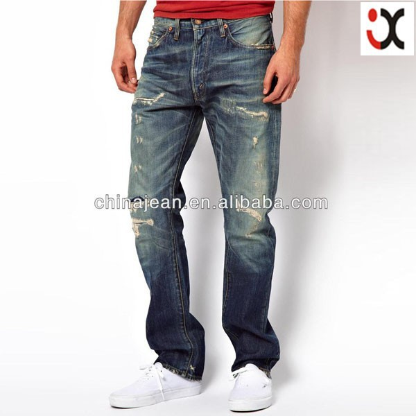jeans manufacturers in delhi fashion men ripped jeans JXL21158