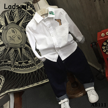 2017 Spring Autumn Whosales Kids Boys Latest Brand Fashion Pant Shirt New Style