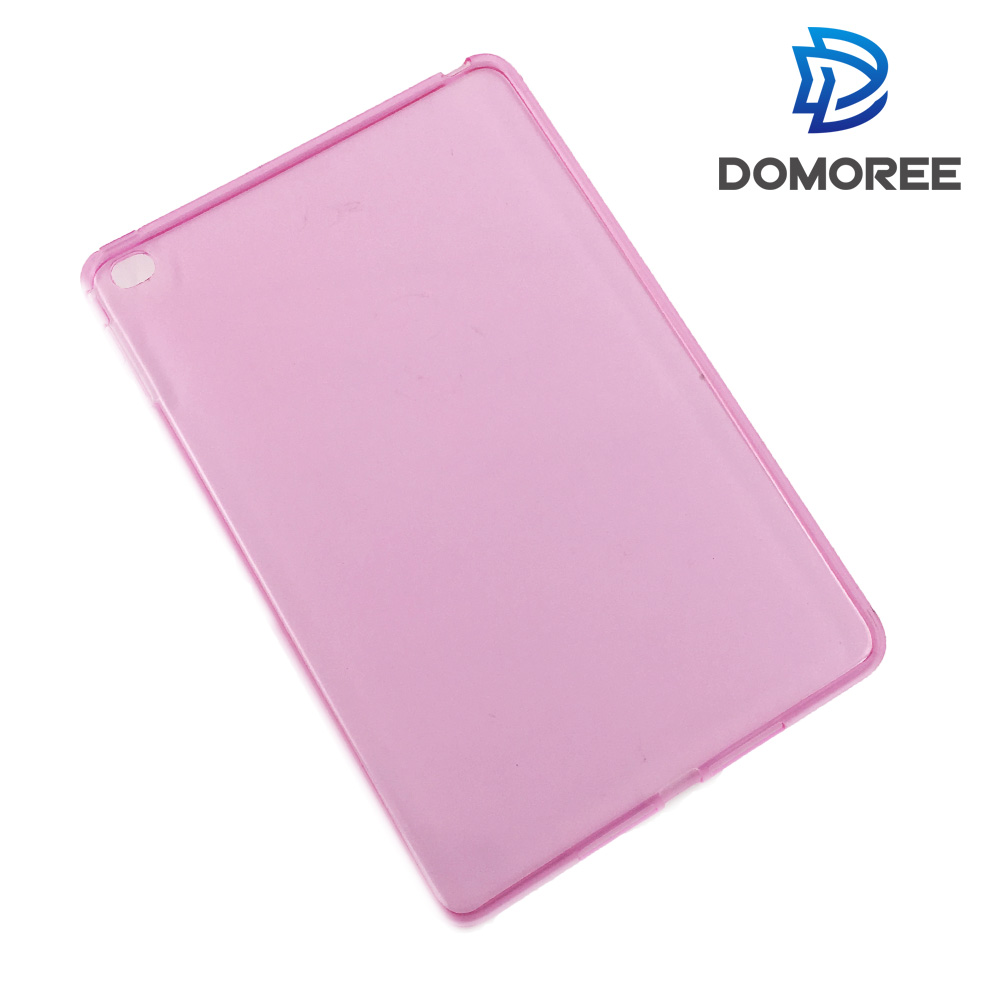 2017 Transparent crystal tpu colorful pink cover case for apple iPad