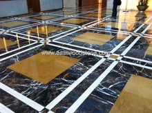 Afghanistan Imported Black Marble tiles and slabs Portopo Marble