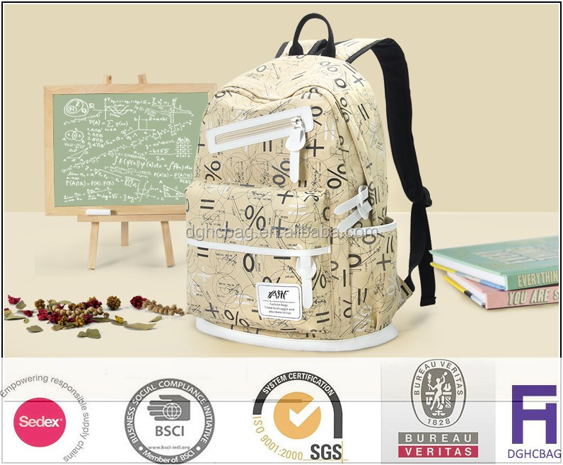 Casual shoulder bag handbags junior high school students bag canvas travel backpack