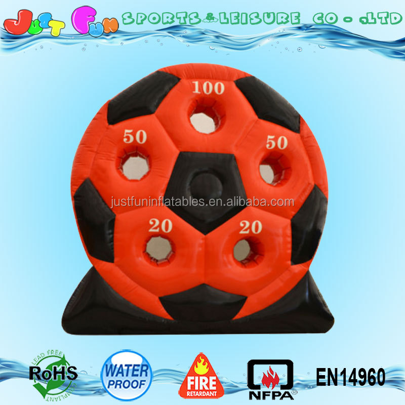 mini inflatable soccer kick board game, football indoor shooting game, inflatable soccer goal