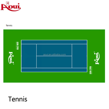 ECO-TPU material tennis court used synthetic flooring for indoor