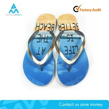 Factory summer cheap manufacture blue swim slipper