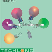 battery and colorful remote control christmas ball,decorative hanging balls
