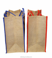 China manufacturers recycled jute shopping tote bag with custom logo
