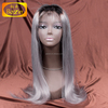 8-30inch stock raw human hair ombre 1b grey cuticle aligned hair lace wigs