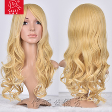 Long Curly Blonde Wig Synthetic Hair For Doll