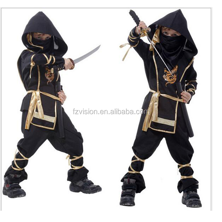 Wholesale Black Kids Halloween Stealth Ninja Warrior Costume