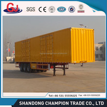 3 axles transport cargo new box trailer kits for sale