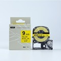 9mm Black on Yellow SC9YW Printer Ribbon tepra label tape for labelworker printers