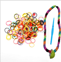 Personalized fun loops rainbow silicon loom bracelet