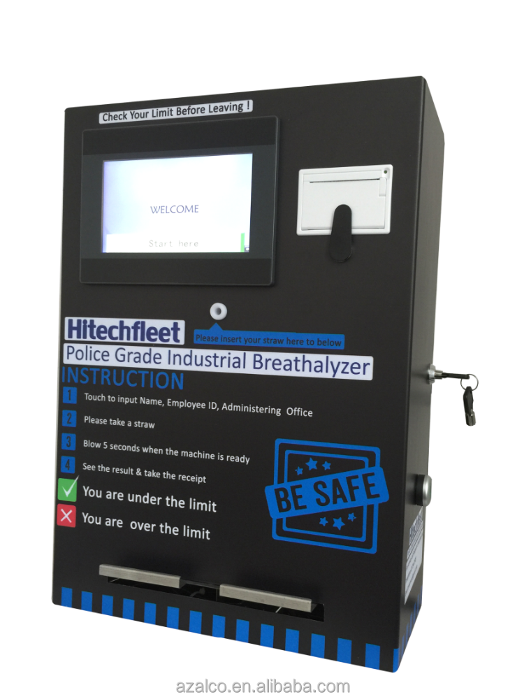 Popular competitive price coin operated alcohol tester breathalyzer machine