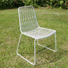 Modern replica Lucy wire dining chair, outdoor bent metal wire frame chairs