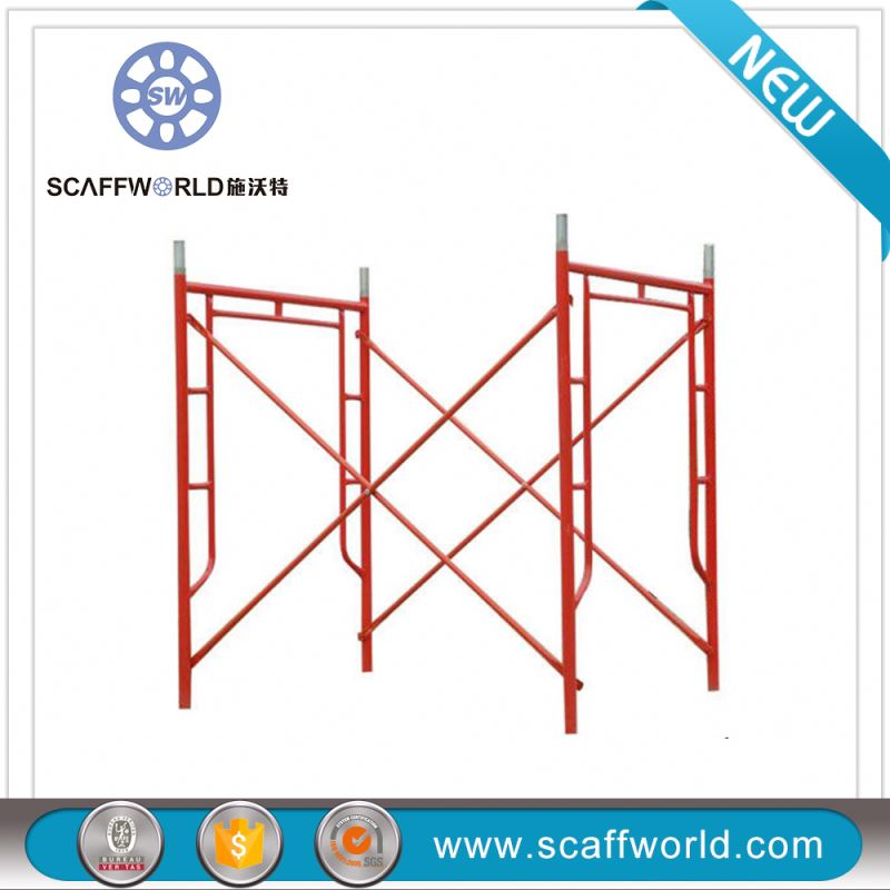 Dip Paint new H Type Movable framework scaffolding(with joint pins)
