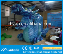 Giant Blue Inflatable Chinese Dragon for Advertising Decoration