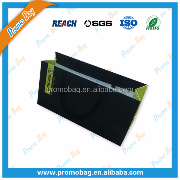 Black Lamination Paper Bags For Glasses Box