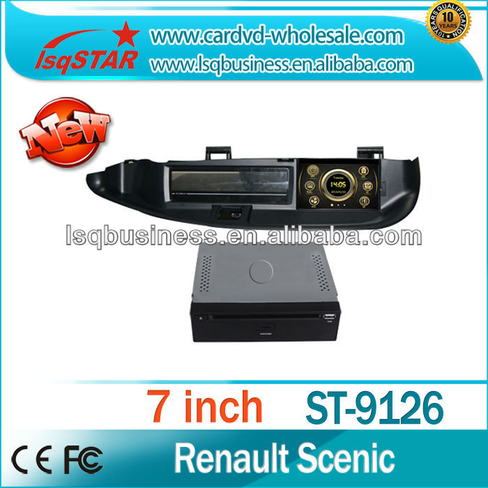Wholesale 7inch in-dash Car Stereo system DVD player GPS Navigation for Renault Scenic