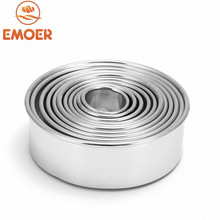 EMOER Wholesale Stainless Steel Round Shaped Cookie Cutter