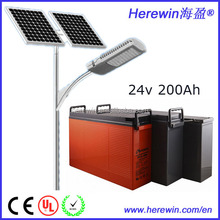 External storage battery 200ah lifepo4 battery pack 24v fot solar street light