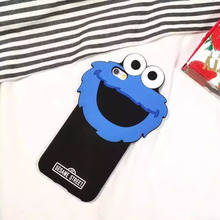 3D design smiling face silicone mobile phone case for iphone 6 7