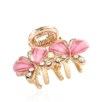 Express Hair Accessories Small Metal Crystal Hair Claw