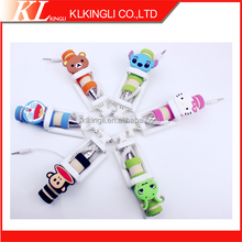 Wired Selfie Handheld Stick Monopod with cute 3D animal designs