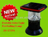 Eco-friendly high effective IP65 waterproof best quality solar pest killing light insecticidal lamp