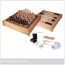Chess Game Set in Wood Box , Drinking Game Set , 4 in row bingo Game