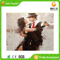 Yiwu factory wholesale of rhinestone painting by numbers abstract dancers art painting