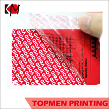 Hologram Security Sticker Tamper Evident Warranty Void Sticker Label Security Void Sticker Tape