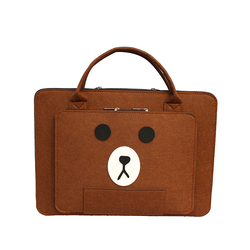 Custom men favorite Eco-friendly felt laptop bag