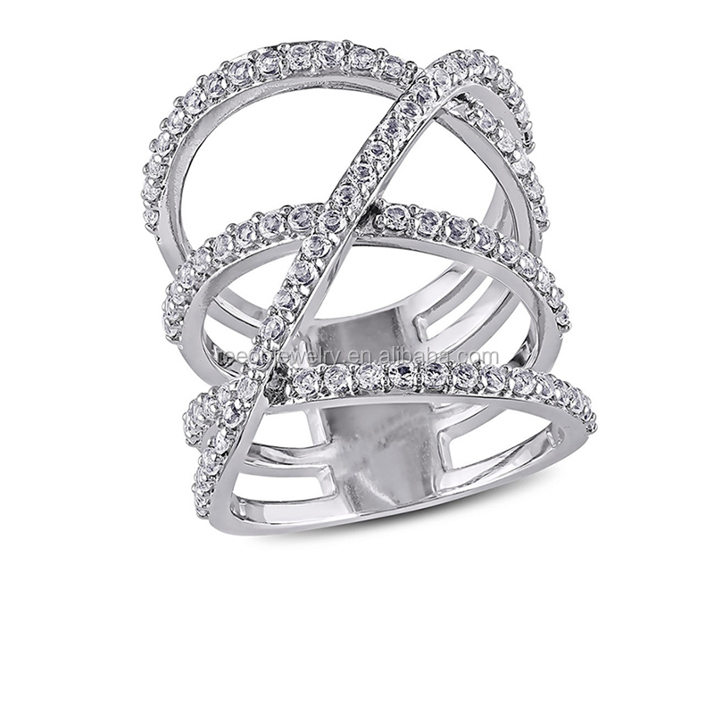 Women's aqeeq ring, wholesale silver cross ring, AAA zircon stone cz ring