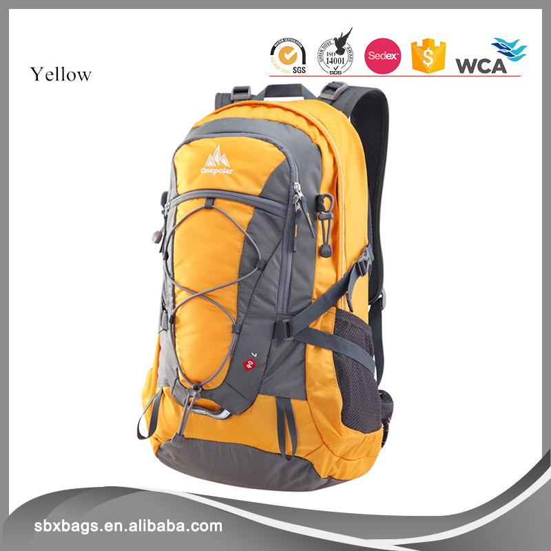 Durable Nylon Material Hiking Backpack for Outdoor Camping with Rain Cover