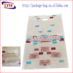 hdpe plastic personalized shopping bags with reinforced handle