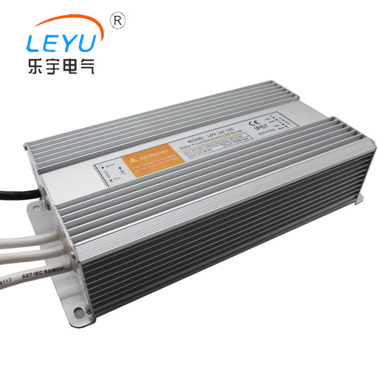 LDV-250-12 250w Led driver 12v waterproof psu with IP67 certification approved waterproof switching power supply