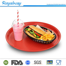 High quality BPA free round shape plastic ABS bar tray, beer anti-slip serving tray
