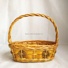 cheap wholesale wicker basket for bread with handle