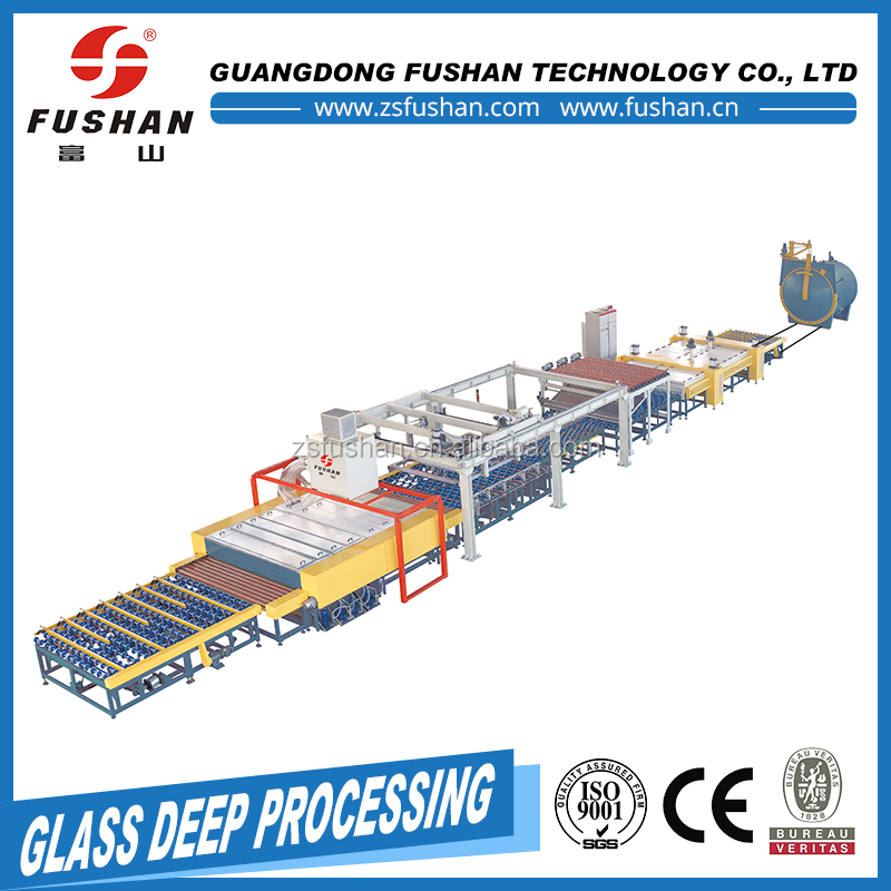 home used bent glass laminating furnace with machine arms