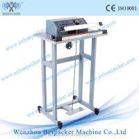 SF series simple type sealer for plastic bags pp pe materials manual heat sealer foot operate pedal impulse sealer