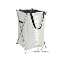 High Quality Washable Polyester Laundry Hamper with X Aluminium Tube Frame