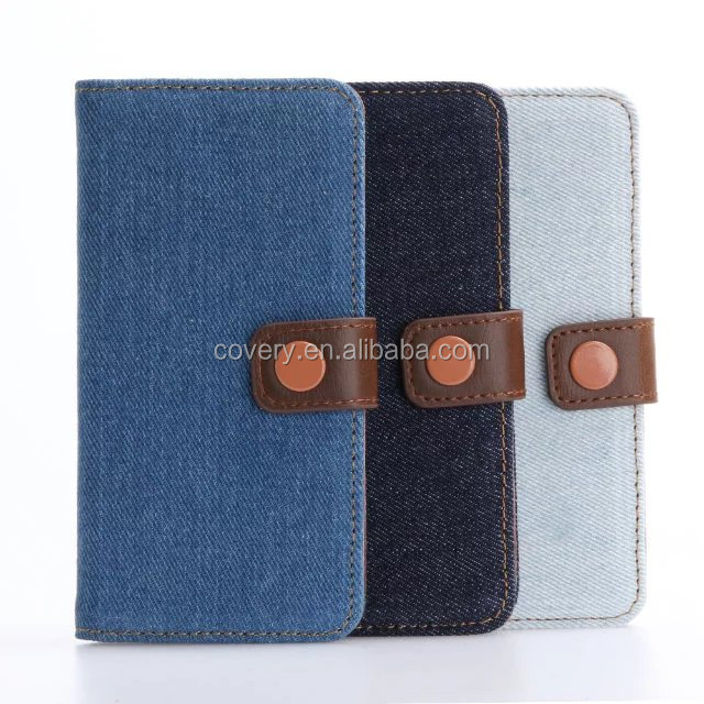 Luxury Jeans Flip Cover Stand Wallet PU Leather Case For iphone 7