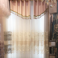 Wholesale elegant embroidered sheer voile curtains fabric silk curtains