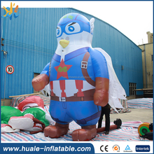 2017 Guangzhou Huale customized design durable giant superman and pigeon model inflatable cartoon for sale