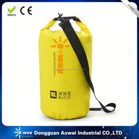 waterproof dry bag with a shoulder strap